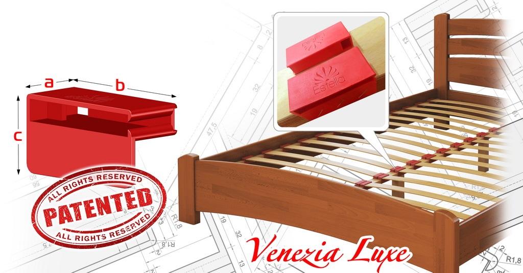 Кровати ТМ Эстелла оснащены фирменными красными ламеледержателями с логотипом компании, которые изготовлены по уникальной запатентованной технологии.